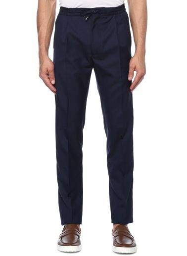 Lardini Lardini  Beli Kordonlu Yün Pantolon 101495398 Lacivert